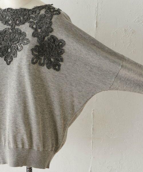 BEARDSLEY / ビアズリー ニット・セーター   襟ぐり刺繍ニット   詳細12