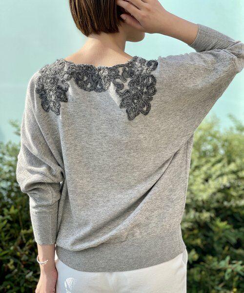 BEARDSLEY / ビアズリー ニット・セーター   襟ぐり刺繍ニット   詳細2