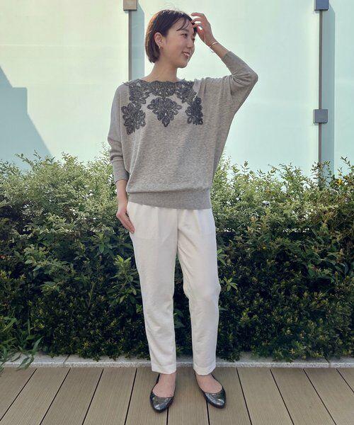 BEARDSLEY / ビアズリー ニット・セーター   襟ぐり刺繍ニット   詳細4