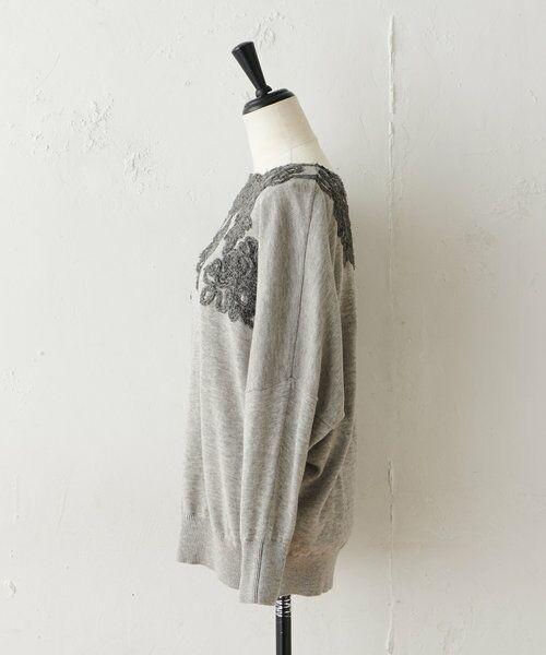 BEARDSLEY / ビアズリー ニット・セーター   襟ぐり刺繍ニット   詳細8