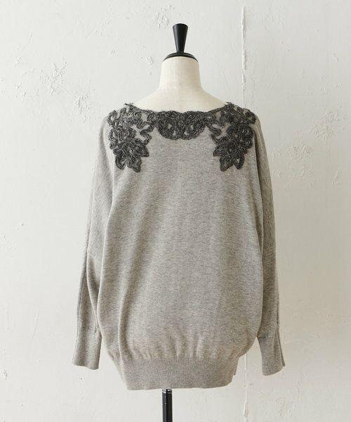 BEARDSLEY / ビアズリー ニット・セーター   襟ぐり刺繍ニット   詳細9