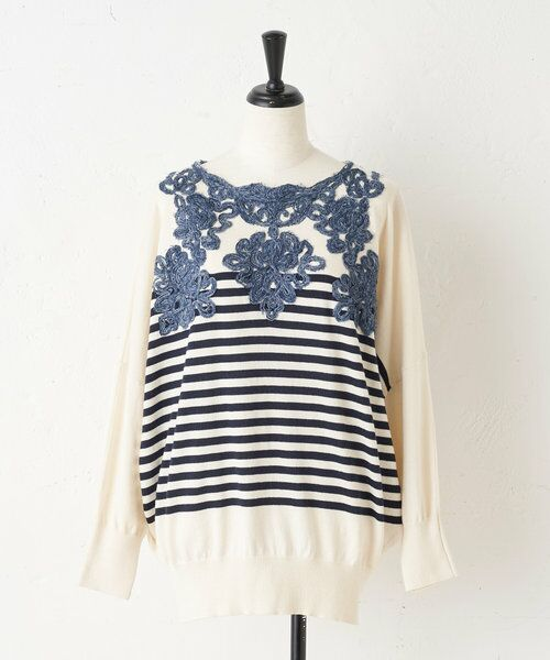 BEARDSLEY / ビアズリー ニット・セーター   襟ぐり刺繍ニット   詳細18