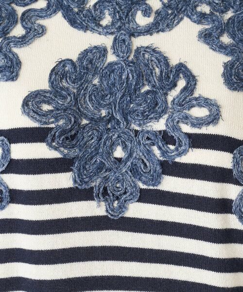 BEARDSLEY / ビアズリー ニット・セーター   襟ぐり刺繍ニット   詳細23