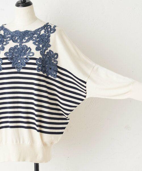BEARDSLEY / ビアズリー ニット・セーター   襟ぐり刺繍ニット   詳細25
