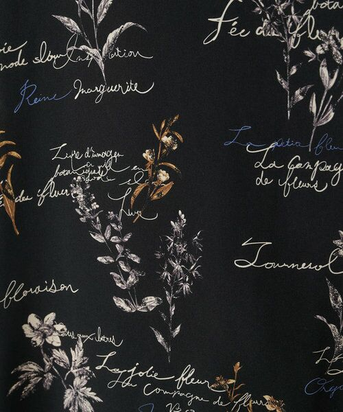 BEARDSLEY / ビアズリー ロング・マキシ丈ワンピース | 《ライブで紹介》ウシロ花プリントワンピース | 詳細26
