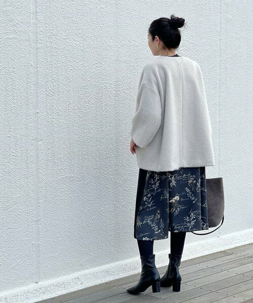 BEARDSLEY / ビアズリー ロング・マキシ丈ワンピース | 《ライブで紹介》ウシロ花プリントワンピース | 詳細28