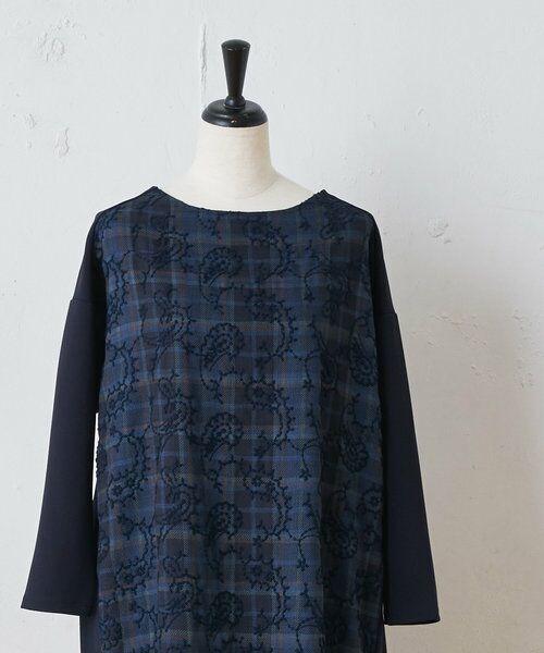 BEARDSLEY / ビアズリー ロング・マキシ丈ワンピース   ペイズリー刺繍ワンピース(ネイビー)