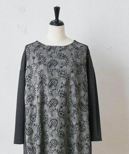 BEARDSLEY / ビアズリー ロング・マキシ丈ワンピース   ペイズリー刺繍ワンピース(グレー)