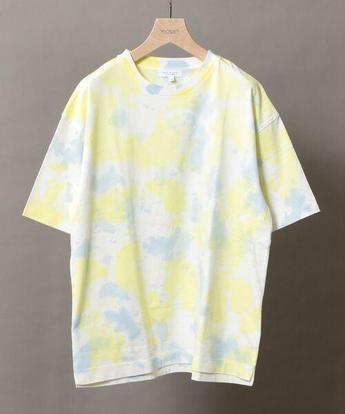 BEAUTY&YOUTH UNITED ARROWS / ビューティ&ユース ユナイテッドアローズ Tシャツ | BY タイダイ ワイドフォルム カットソー(YELLOW)