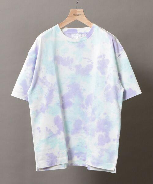 BEAUTY&YOUTH UNITED ARROWS / ビューティ&ユース ユナイテッドアローズ Tシャツ | BY タイダイ ワイドフォルム カットソー(LIME)