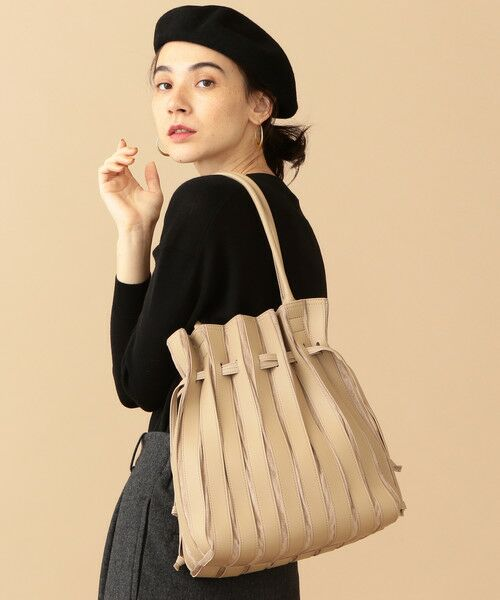 BEAUTY&YOUTH UNITED ARROWS / ビューティ&ユース ユナイテッドアローズ トートバッグ | BY∴ フェイクレザー コンビパネルトートバッグ(BEIGE)