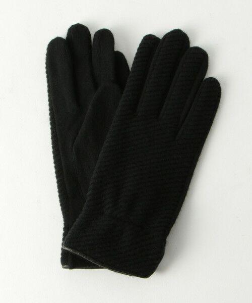 BEAUTY&YOUTH UNITED ARROWS / ビューティ&ユース ユナイテッドアローズ 手袋 | BY バイアスジャガードグローブ -スマートフォン対応- о(BLACK)