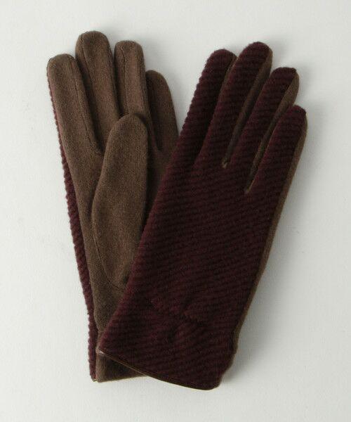 BEAUTY&YOUTH UNITED ARROWS / ビューティ&ユース ユナイテッドアローズ 手袋 | BY バイアスジャガードグローブ -スマートフォン対応- о(WINE)