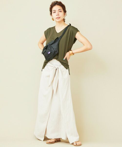 BEAUTY&YOUTH UNITED ARROWS / ビューティ&ユース ユナイテッドアローズ カットソー | 【予約】【WEB限定】by ※バックタックVネックフレンチスリーブカットソー | 詳細18