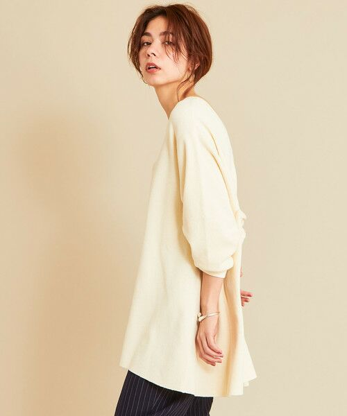 BEAUTY&YOUTH UNITED ARROWS / ビューティ&ユース ユナイテッドアローズ カットソー | 【予約】BY ワッフルAライン バックUネックカットソー | 詳細4