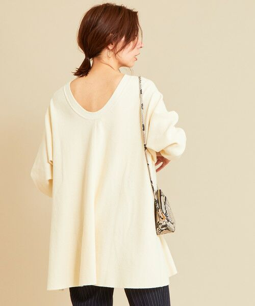 BEAUTY&YOUTH UNITED ARROWS / ビューティ&ユース ユナイテッドアローズ カットソー | 【予約】BY ワッフルAライン バックUネックカットソー(OFF WHITE)