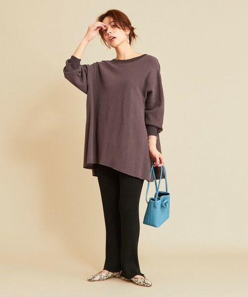 BEAUTY&YOUTH UNITED ARROWS / ビューティ&ユース ユナイテッドアローズ カットソー | 【予約】BY ワッフルAライン バックUネックカットソー | 詳細6