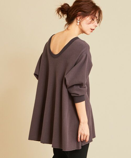 BEAUTY&YOUTH UNITED ARROWS / ビューティ&ユース ユナイテッドアローズ カットソー | 【予約】BY ワッフルAライン バックUネックカットソー(DK.GRAY)
