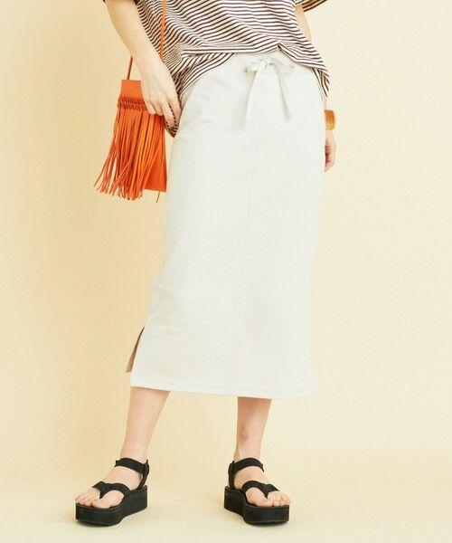 BEAUTY&YOUTH UNITED ARROWS / ビューティ&ユース ユナイテッドアローズ ミニ・ひざ丈スカート | BY ヘビーコットンスウェットタイトスカート(NATURAL)