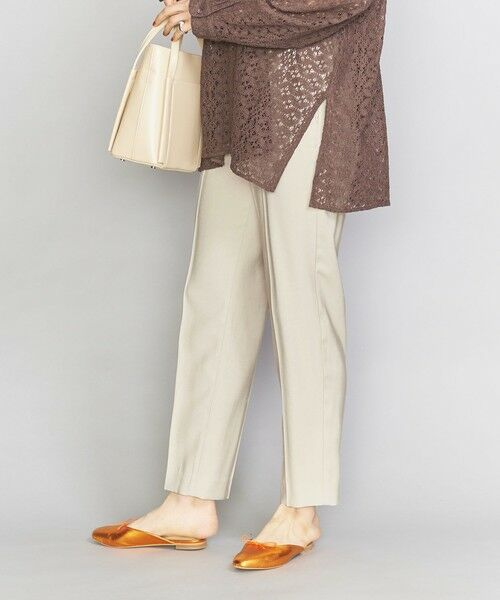 BEAUTY&YOUTH UNITED ARROWS / ビューティ&ユース ユナイテッドアローズ スラックス・ドレスパンツ | BY イージーテーパードパンツ(BEIGE)