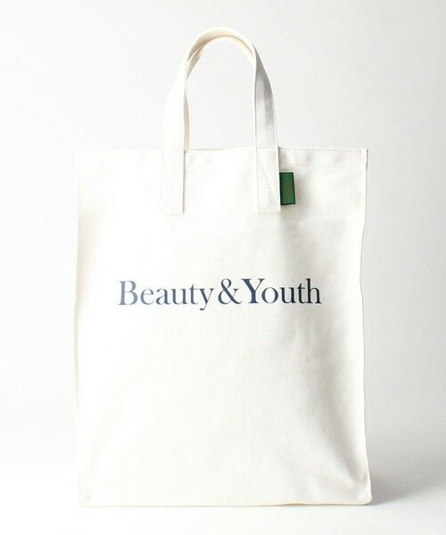 BEAUTY&YOUTH UNITED ARROWS / ビューティ&ユース ユナイテッドアローズ トートバッグ | BY SOUVENIR キャンバス トートバッグ M(WHITE)