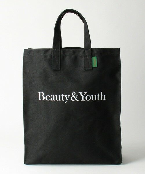 BEAUTY&YOUTH UNITED ARROWS / ビューティ&ユース ユナイテッドアローズ トートバッグ | BY SOUVENIR キャンバス トートバッグ M(BLACK)