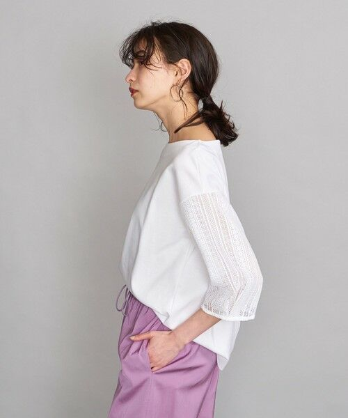 BEAUTY&YOUTH UNITED ARROWS / ビューティ&ユース ユナイテッドアローズ カットソー | BY 袖レース7分袖カットソー | 詳細1