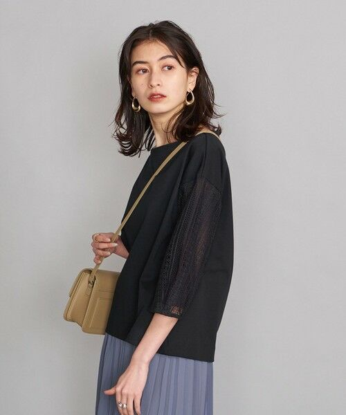 BEAUTY&YOUTH UNITED ARROWS / ビューティ&ユース ユナイテッドアローズ カットソー | BY 袖レース7分袖カットソー | 詳細8