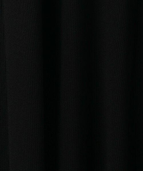 BEAUTY&YOUTH UNITED ARROWS / ビューティ&ユース ユナイテッドアローズ ロング・マキシ丈ワンピース | BY リブフレア5分袖ワンピース -ウォッシャブル- | 詳細7