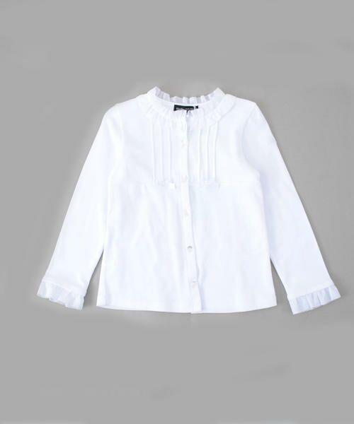 8f52cb24cd140 スムーススタンドカラーカットシャツ (シャツ・ブラウス) BeBe   べべ ...