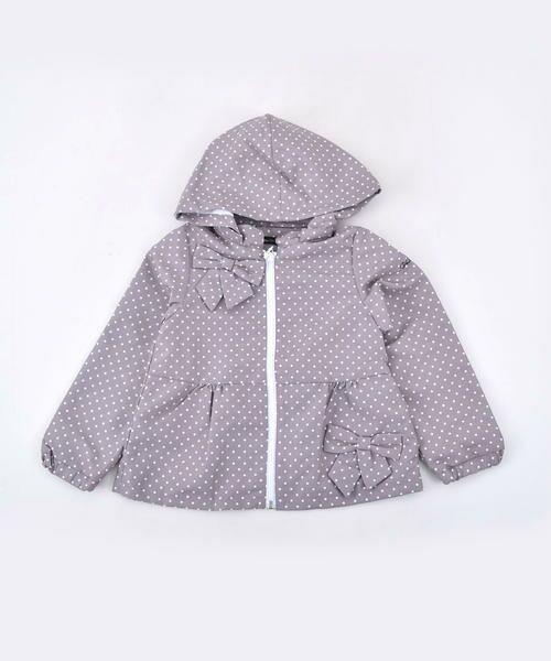 BeBe / べべ パーカー | ナイロンドットプリントジャケット | 詳細7