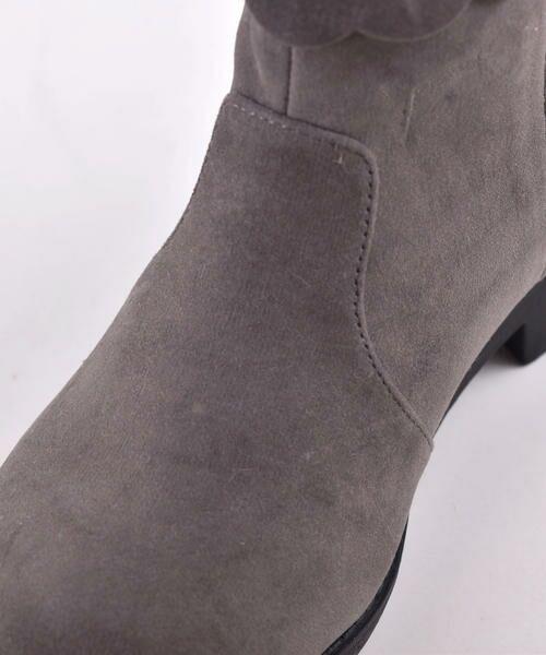 BeBe / べべ ブーツ(ショート丈) | スカラップフラワーショートブーツ | 詳細3