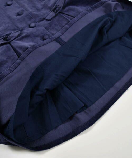 BeBe / べべ スカート | クルミ ボタン フラップ ポケット ツイル ベッチン ジャンパースカート(90cm〜140cm) | 詳細11