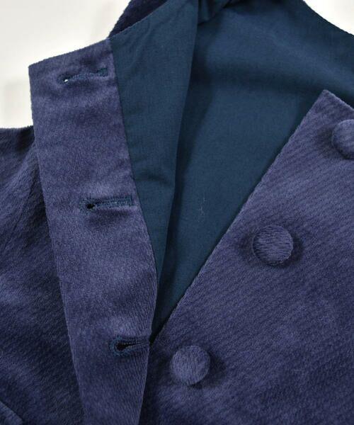 BeBe / べべ スカート | クルミ ボタン フラップ ポケット ツイル ベッチン ジャンパースカート(90cm〜140cm) | 詳細12
