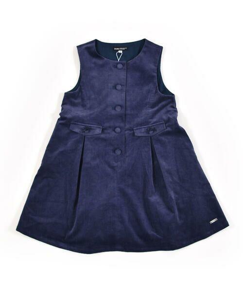 BeBe / べべ スカート | クルミ ボタン フラップ ポケット ツイル ベッチン ジャンパースカート(90cm〜140cm) | 詳細5
