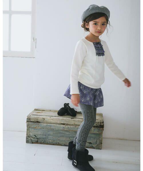 BeBe / べべ スカート | 日本製 カバリエ レ・アズー ロキュロット スカート(90cm〜150cm) | 詳細5