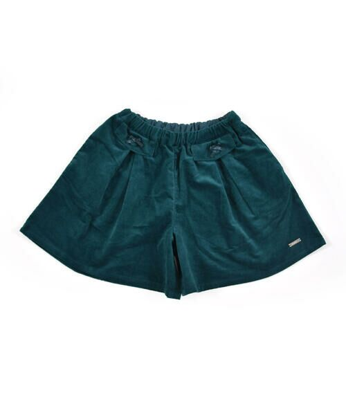 BeBe / べべ スカート | クルミ ボタン フラップ ポケット ツイル ベッチン キュロット(90cm〜150cm)(グリーン)