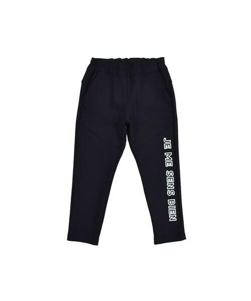 BeBe / べべ パンツ | メリルハイテンション フロント ロゴ スウェット パンツ(100~140cm) | 詳細7