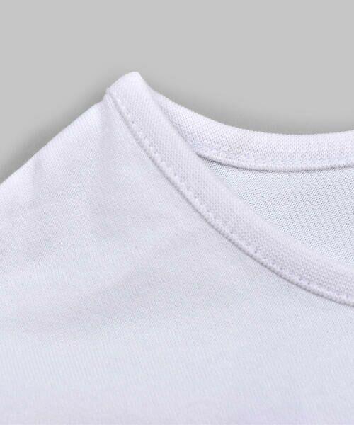 BeBe / べべ Tシャツ | ドロップ ショルダー  袖 フリル チェリー リボン モチーフ Tシャツ(80〜140cm) | 詳細2