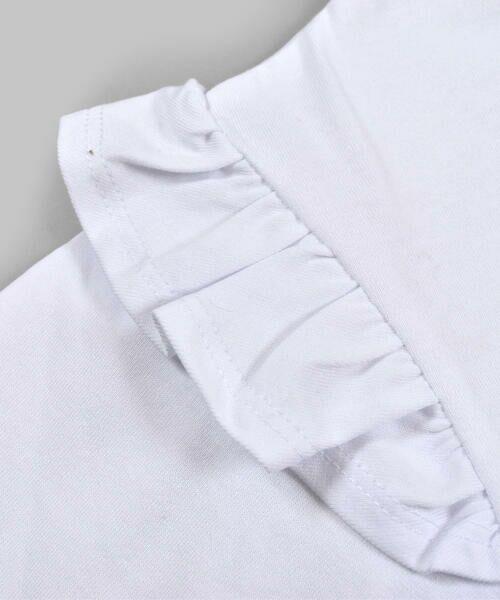 BeBe / べべ Tシャツ | ドロップ ショルダー  袖 フリル チェリー リボン モチーフ Tシャツ(80〜140cm) | 詳細3