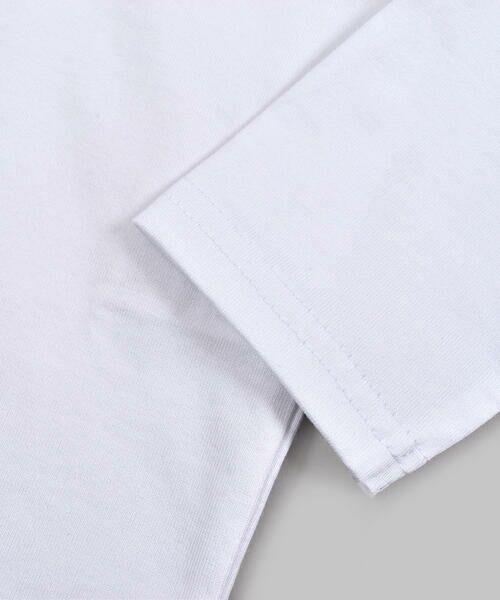 BeBe / べべ Tシャツ | ドロップ ショルダー  袖 フリル チェリー リボン モチーフ Tシャツ(80〜140cm) | 詳細5