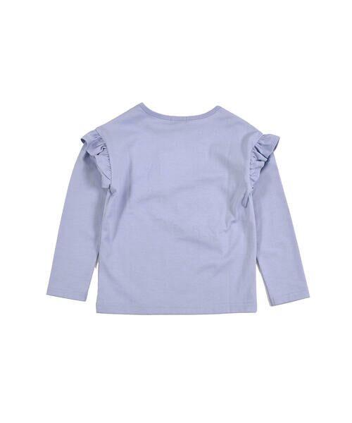 BeBe / べべ Tシャツ | ドロップ ショルダー  袖 フリル チェリー リボン モチーフ Tシャツ(80〜140cm) | 詳細10