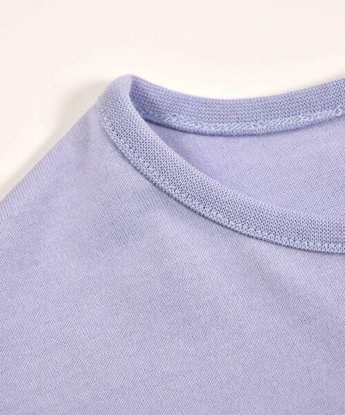BeBe / べべ Tシャツ | ドロップ ショルダー  袖 フリル チェリー リボン モチーフ Tシャツ(80〜140cm) | 詳細11