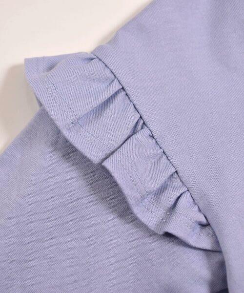BeBe / べべ Tシャツ | ドロップ ショルダー  袖 フリル チェリー リボン モチーフ Tシャツ(80〜140cm) | 詳細13