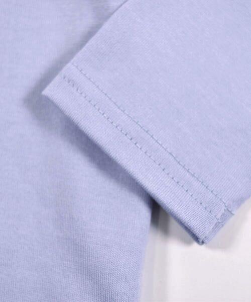 BeBe / べべ Tシャツ | ドロップ ショルダー  袖 フリル チェリー リボン モチーフ Tシャツ(80〜140cm) | 詳細14