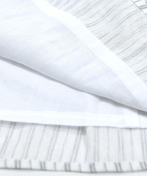 BeBe / べべ ワンピース | スカラップ フリル 衿 ナチュラル ストライプ ワンピース(90~140cm) | 詳細9