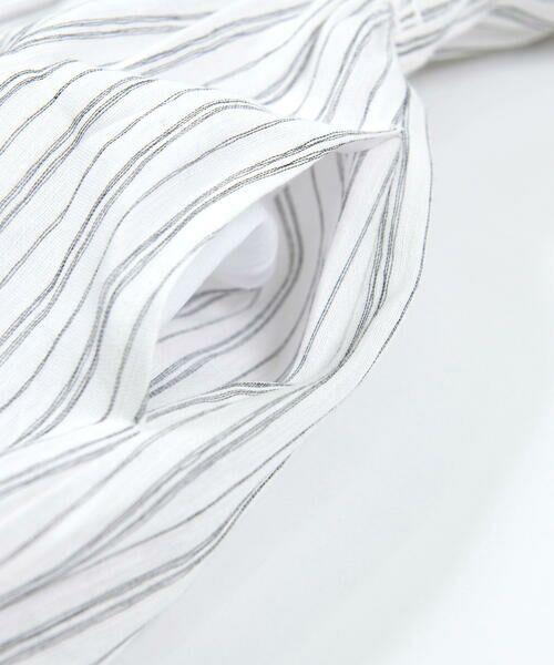 BeBe / べべ ワンピース | スカラップ フリル 衿 ナチュラル ストライプ ワンピース(90~140cm) | 詳細11