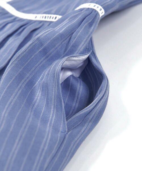 BeBe / べべ ワンピース | スカラップ フリル 衿 ナチュラル ストライプ ワンピース(90~140cm) | 詳細18