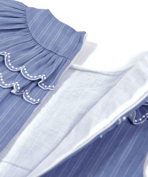 BeBe / べべ ワンピース | スカラップ フリル 衿 ナチュラル ストライプ ワンピース(90~140cm) | 詳細20