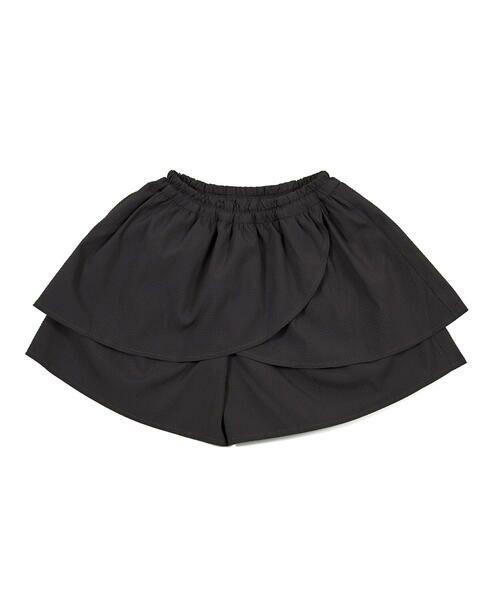 BeBe / べべ ショート・ハーフ・半端丈パンツ   ギンガム サッカー レイヤード スカート パンツ(80~150cm)   詳細5